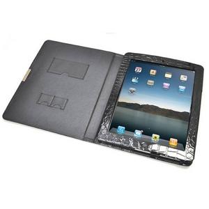 iPad ケース 高級感あふれる♪クロコダイル風レザーケース_2