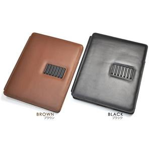 iPad ケース 高級感あふれる♪スタンド付きレザーケース(ブラウン)_3