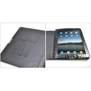 iPad ケース 高級感あふれる♪クロコダイル風レザーケース_3