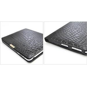 iPad ケース 高級感あふれる♪クロコダイル風レザーケース_4